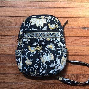 Vera Bradley Yellow and Black Printed Backpack